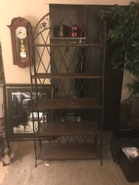 Iron and wicker shelf Council Bluffs, 51501
