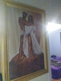 naked woman and man painting