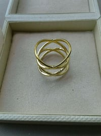 Ashleylyn ave18k gold plated ring new in box  Burtonsville, 20866