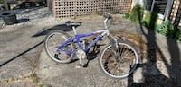 blue and gray full suspension mountain bike Vancouver, V6R