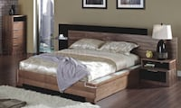 Black and Walnut Ibeza Queen bedset WASHINGTON