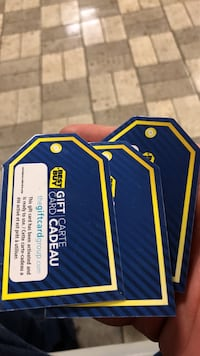 Three best buy gift cards