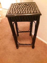 Black bamboo decorative side table