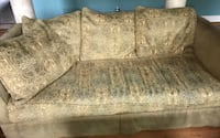 gray and white floral fabric 2-seat sofa Woodbine, 21797