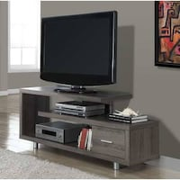 """Monarch Specialties DARK TAUPE RECLAIMED-LOOK 60""""L TV CONSOLE"""
