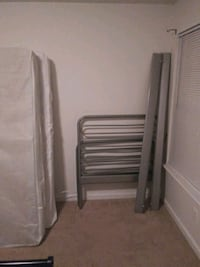 Gray bed frame with box spring and mattress Stafford, 22554