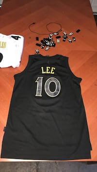 black and yellow Lee 10 basketball jersey top Fremont, 94536