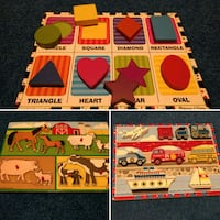 Puzzles for toddlers (2 Melissa & Doug's, 1 other brand) Haymarket, 20169