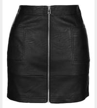 Women's black leather skirt Boston