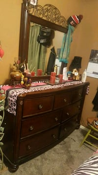 brown wooden dresser with mirror Grand Junction