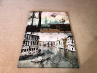 Set of 2 Italy Venice Rome Pictures Canvas Prints - Excellent North Wales, 19454