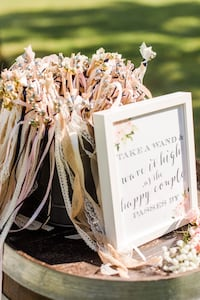 Wedding Wands & Sign  Falls Church, 22042