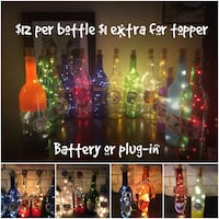 assorted color and design glass bottle decor lot collage 35 mi