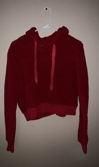 Small fuzzy red crop top hoodie Las Vegas, 89110