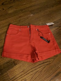 Fire engine red shorts