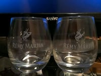 two clear Remy Martin glasses Houston, 77074