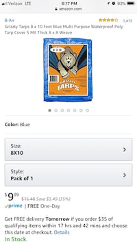Grizzly Tarp Fairfax, 22033
