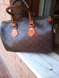 Tote bag in pelle Louis Vuitton nera e marrone Roma, 00172