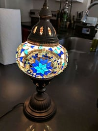 Handmade mosaic lamp from Rhodes, Greece