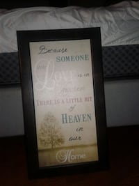 Wooden Framed wall hanging with quote Brantford, N3S 5P5