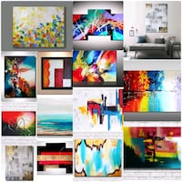 Beautiful Abstract Canvas Paintings Toronto, M3C 1G2