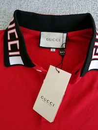 Brand new w/tags GUCCI red/black cotton polo Toronto, M5J 1B7
