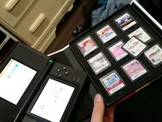 Original red nentendo DS with 10 games