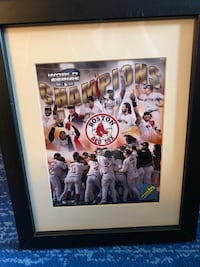 Two wooden framed Red Sox photos Waltham, 02453