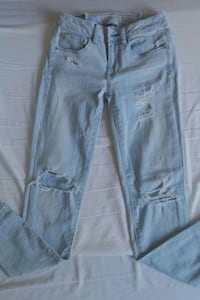 blå distressed denim jeans Hässleholm, 281 36