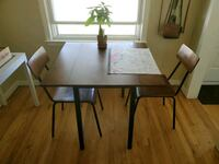 Dining room table and 2 chairs