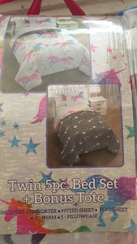 Unicorn twin bed set. Otsego, 49078