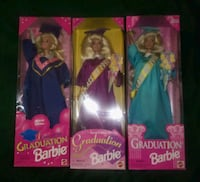 collectibles:  3 Graduation Barbies Fridley, 55421