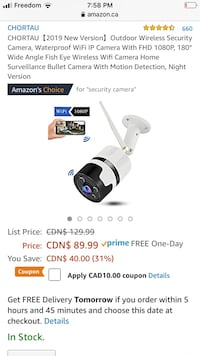 Security camera brand new never used  Edmonton, T6E 0G6