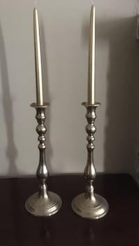 two gray metal candle holders Dundas, L9H 1S3