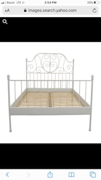 FULL metal frame bed with box spring