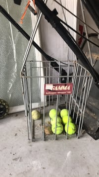 tennis balls basket