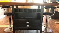 Black wooden 3-drawer chest Mississauga, L5N