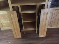 Solid wood entertainment center  Fort Worth, 76114