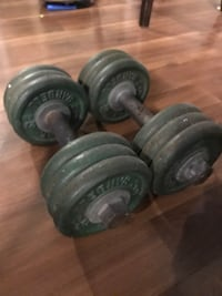 Pair or 35lbs York iron dumbbells Toronto, M6J 1C3