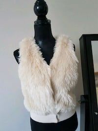 women's white fur coat Red Deer, T4N 2H6