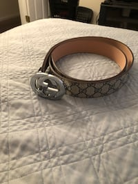 black Gucci leather belt with silver buckle Fort Washington, 20744