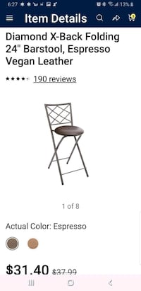 X-back folding chair