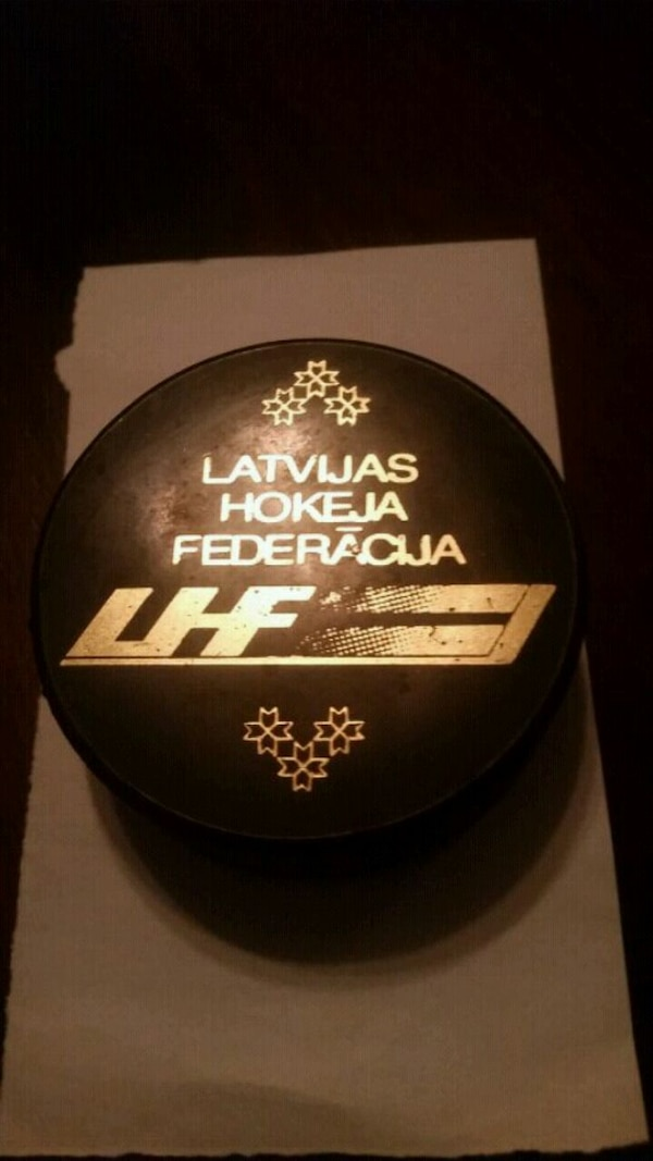 Latvian Hockey Federation Puck
