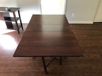 Wood Dining table - foldable - available until 2/22 only   Arlington, 22201