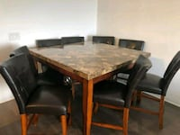 marble top pubstyle dining table and 8 chairs Richmond Hill, L4C 3V1