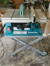 Makita table saw with stand. St. Catharines, L2R 4B1