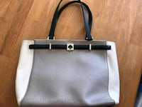 grey and white leather Kate spade purse  Waltham, 02453