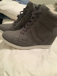 Brand new high top semi heel/wedge sneaker from Just Fab size 9