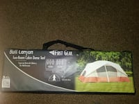 white and ornage Bull Canyon dome tent box Pell City, 35128