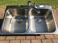 Stainless double sink with Moen faucet Ottawa, K1T